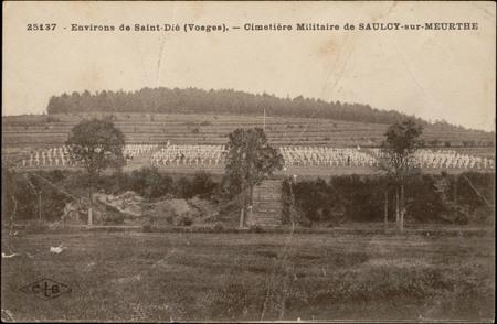 Environs de Saint-Dié (Vosges), Cimetière militaire de Saulcy-sur-Meurthe