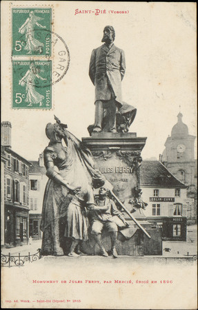 Saint-Dié (Vosges), Monument de Jules Ferry, par Mercié, érigé en 1890