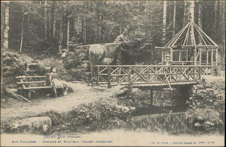 Saint-Dié (Vosges), Aux Molières, Cascade et Nouveau Châlet forestier