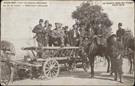 Saint-Dié avant l'Occupation allemande, Au Col de Saales, Déserteurs allem…