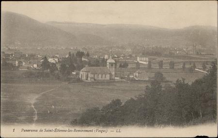 Panorama de Saint-Etienne-les-Remiremont (Vosges)