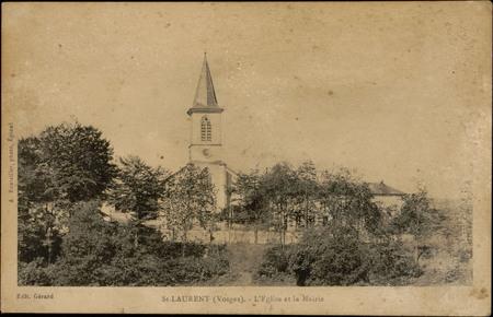 St-Laurent (Vosges), L'Église et la Marie