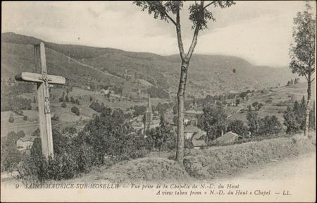Saint-Maurice-sur-Moselle, Vue prise de la Chapelle de N.-D. du Haut