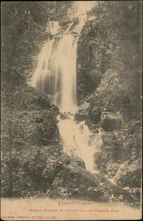 Tendon (Vosges), Grande Cascade de Tendon par les Grandes Eaux