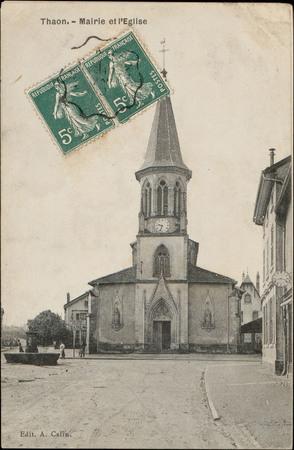 Thaon, Mairie et l'Église