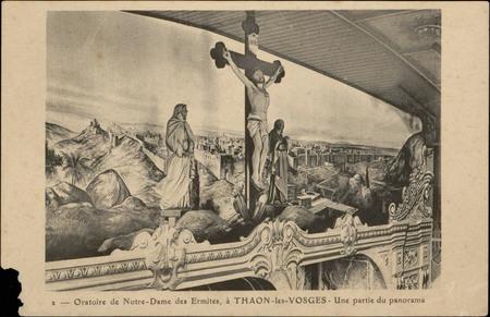 Oratoire de Notre-Dame des Ermites, à Thaon-les-Vosges, Une partie du pano…