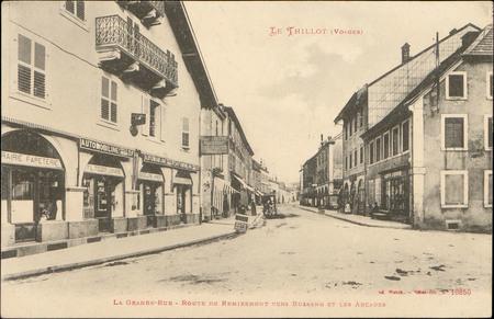 Le Thillot (Vosges), La Grande-Rue, Route de Remiremont vers Bussang et le…