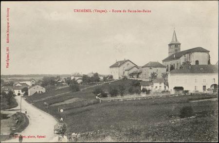 Uriménil (Vosges), Route de Bains-les-Bains