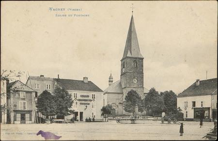 Vagney (Vosges), Église et Fontaine