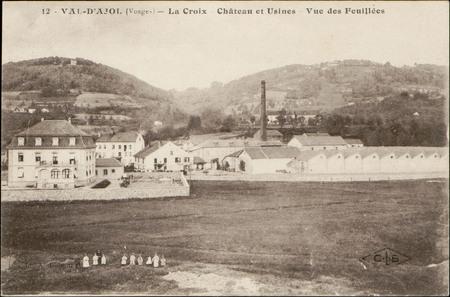 Val d'Ajol (Vosges), La Croix, Château et Usines, Vue des Feuillées