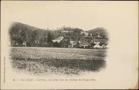 Val d'Ajol, Larrière, vue prise vers les champs de Fougerolles