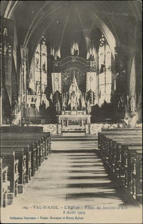 Val-d'Ajol, L'Église, Fête de Jeanne d'Arc, 8 août 1909