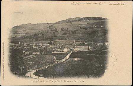 Val-d'Ajol, Vue prise de la route du Hariol