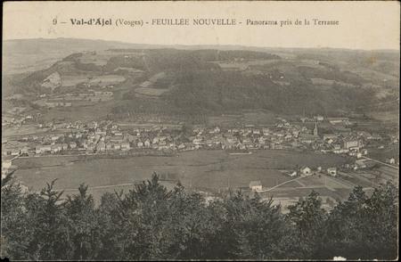 Val-d'Ajol (Vosges), Feuillée Nouvelle, Panorama pris de la Terrasse