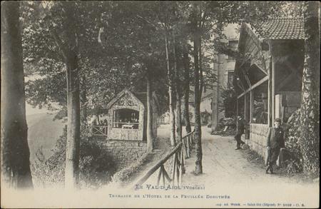 Le Val-d'Ajol (Vosges), Terrasse de l'hôtel de la Feuillée-Dorothée