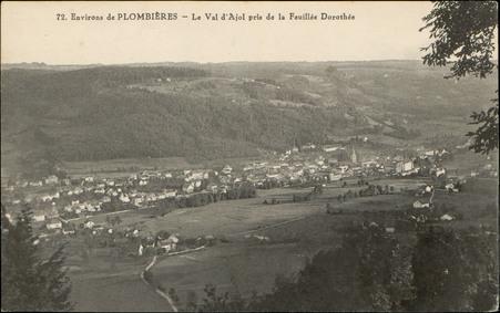 Environs de Plombières, Le Val d'Ajol pris de la Feuillée Dorothée