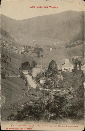 Le Village du Valtin, Vue prise vers le Col du Louschpach