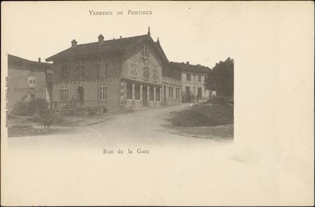 Verrerie de Portieux, Rue de la Gare