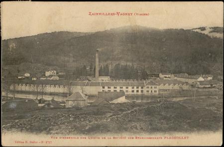 Zainvillers-Vagney (Vosges), Vue d'ensemble des Usines de la Société des E…