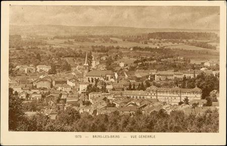 Bains-les-Bains, Vue générale