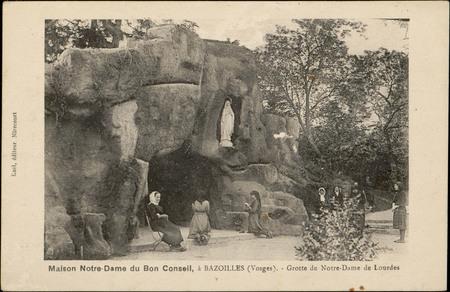Maison Notre-Dame du Bon Conseil, à Bazoilles (Vosges), Grotte de Notre-Da…