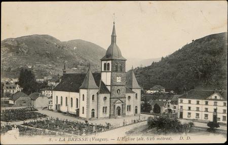 La Bresse (Vosges), L'Église (alt. 626 mètres)