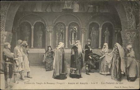Théâtre du Peuple de Bussang (Vosges), Amys et Amyle Acte II, Les Présents…