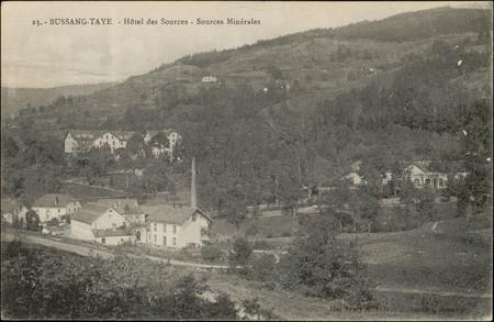 Bussang-Taye, Hôtel des Sources, Sources Minérales