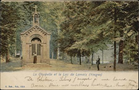 La Chapelle et le lac de Lamaix (Vosges)
