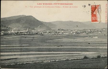 Vue générale de Celles-sur-Plaine, Vallée de Celles