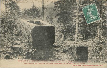 Vallée de Celles (Vosges), Près du Lac de La Maix […], Sarcophage de l'épo…