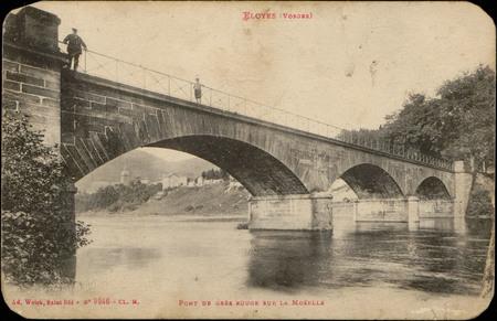 Eloyes (Vosges), Pont de grès sur la Moselle