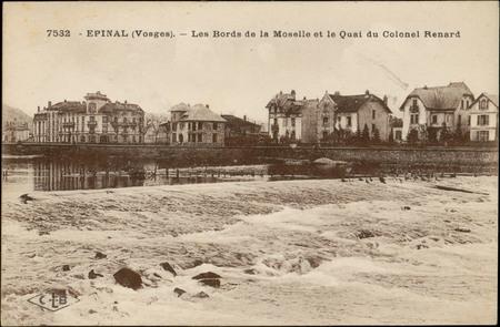 Epinal (Vosges), Les Bords de la Moselle et le Quai du Colonel Renard