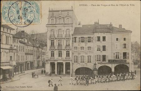 Epinal, Place des Vosges et Rue de l'Hôtel de Ville