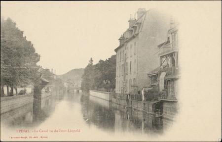 Epinal, Le Canal vu du Pont Léopold