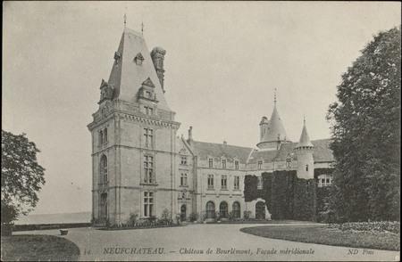 Neufchâteau, Château de Bourlémont, Façade méridionale