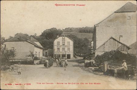 Gemaingoutte (Vosges), Vue du Centre, Route de Saint-Dié au Col de Sainte-…