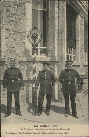 La Schlucht, La Frontière, Gendarme et Douaniers Allemands