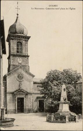 Golbey, Le Monument commémoratif place de l'Église