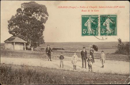 Grand (Vosges), Vallée et Chapelle Sainte-Libaire (Ixe siècle), Route de l…