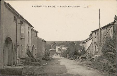 Martigny-les-Bains, Rue de Morizécourt