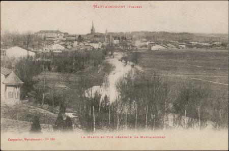 Mattaincourt (Vosges), Le Madon et Vue générale de Mattaincourt