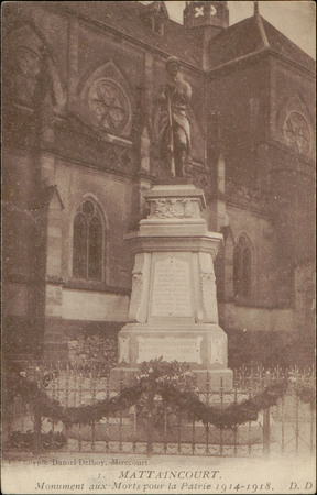 Mattaincourt, Monument aux Morts pour la Patrie 1914-1918