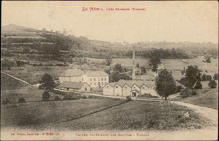 Le Ménil près Senones (Vosges), Vallée supérieure des Gouttes, Tissage