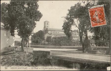 Neufchâteau, Le Pont et l'Église Saint-Christophe