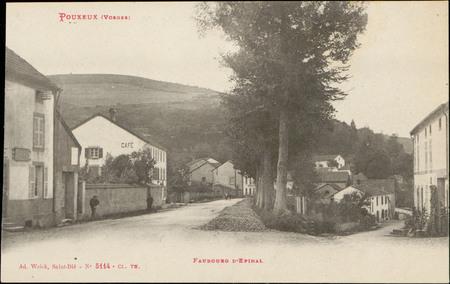 Pouxeux (Vosges), Faubourg d'Epinal