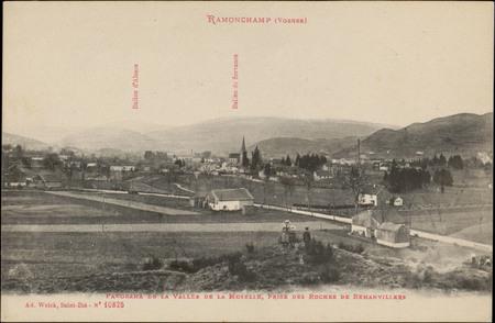 Ramonchamp (Vosges), Panorama de la Vallée de la Moselle, prise des Roches…