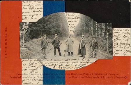Frontière franco-allemande sur la route de Raon-sur-Plaine à Schmirmeck (V…