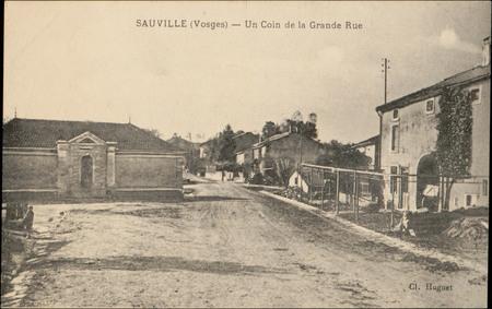 Sauville (Vosges), Un Coin de la Grande Rue