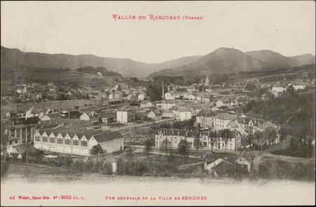 Vallée de Rabodeau (Vosges), Vue générale de la Ville de Senones